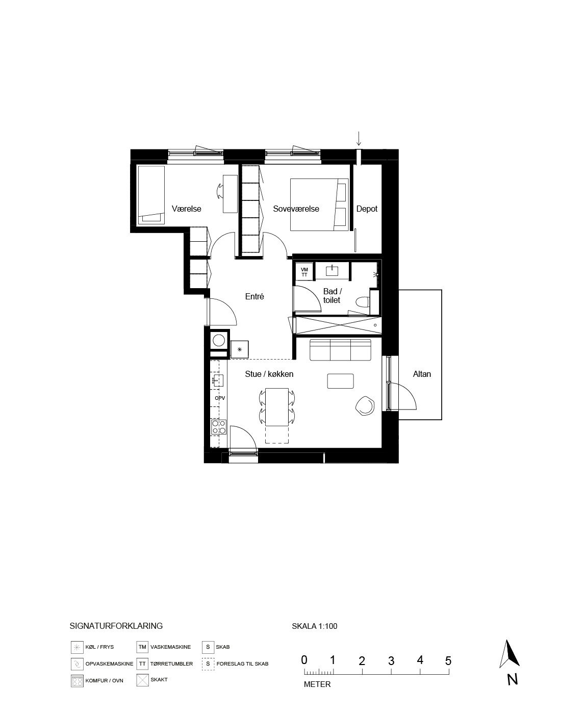 Plantegning for Ringholmvej 13 4 th., 2700 Brønshøj