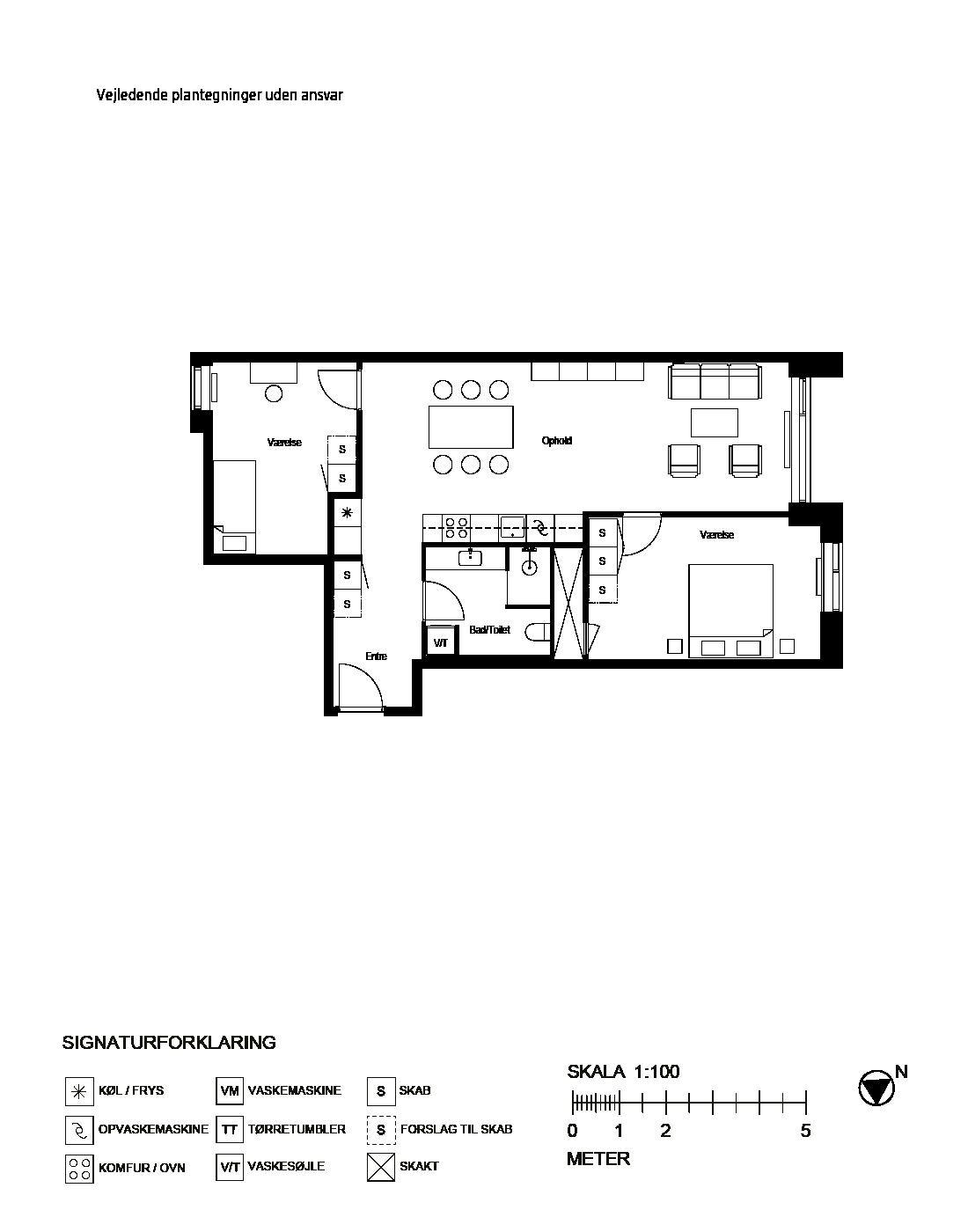 Plantegning for Dieselvej 19, st. mf., 2450 København SV