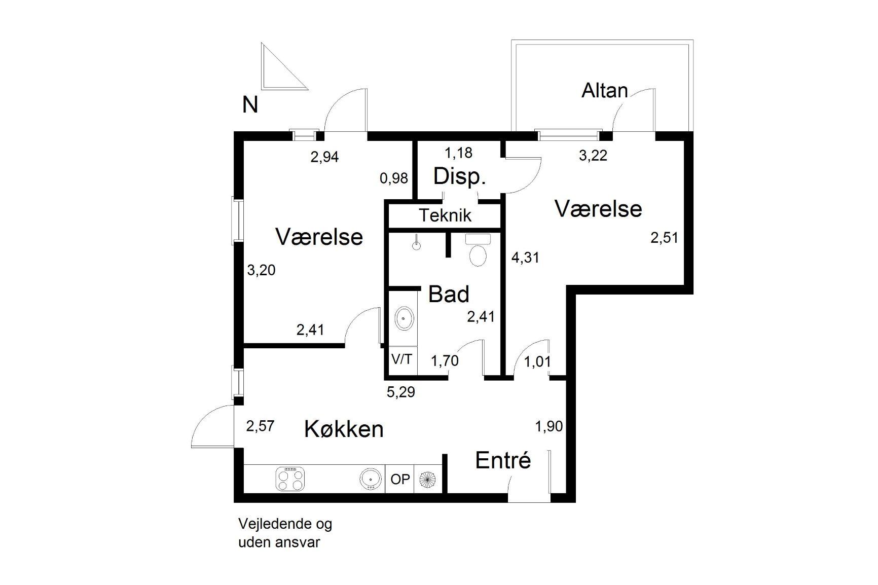 Plantegning for Borresøvej 11, 3. Lejl. 4, 8240 Risskov