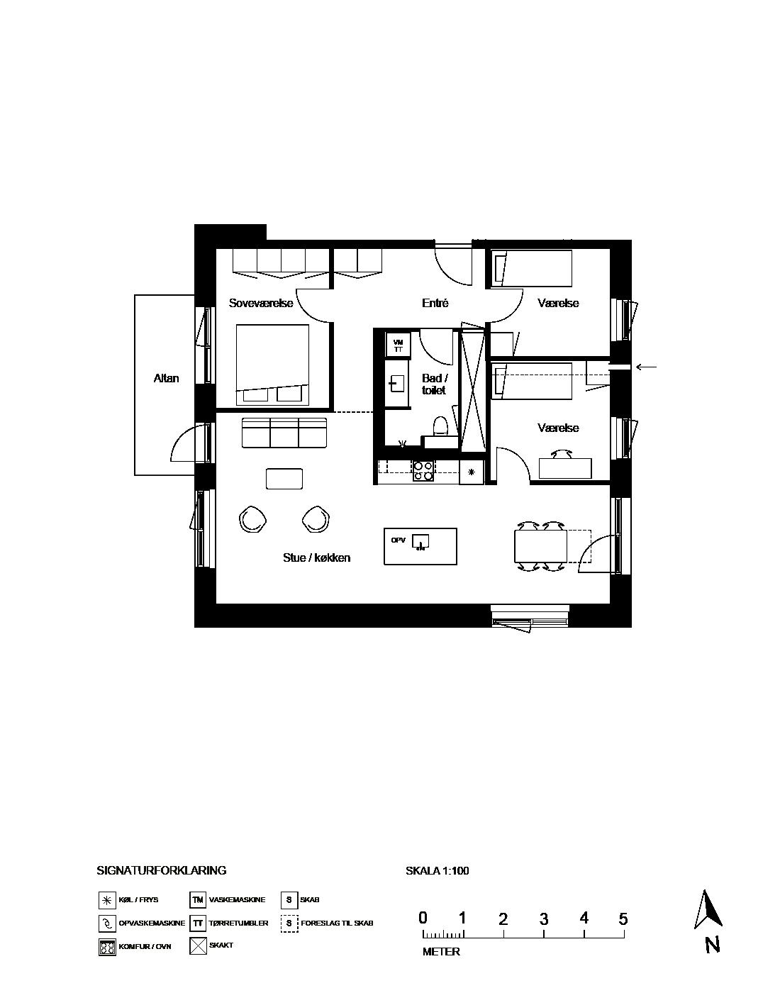 Plantegning for Ringholmvej 18 5 th., 2700 Brønshøj