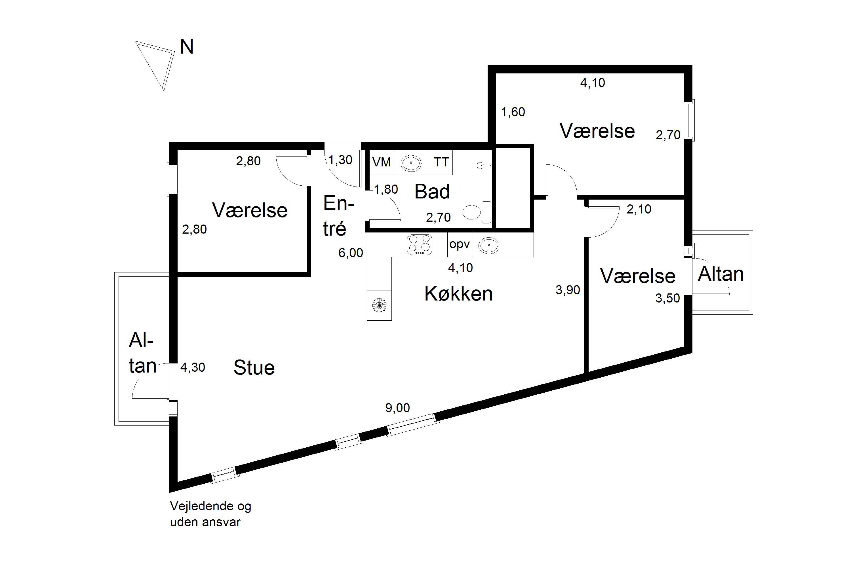 Plantegning for Karin Nellemoses Vej 5, 2. tv., 2500 Valby