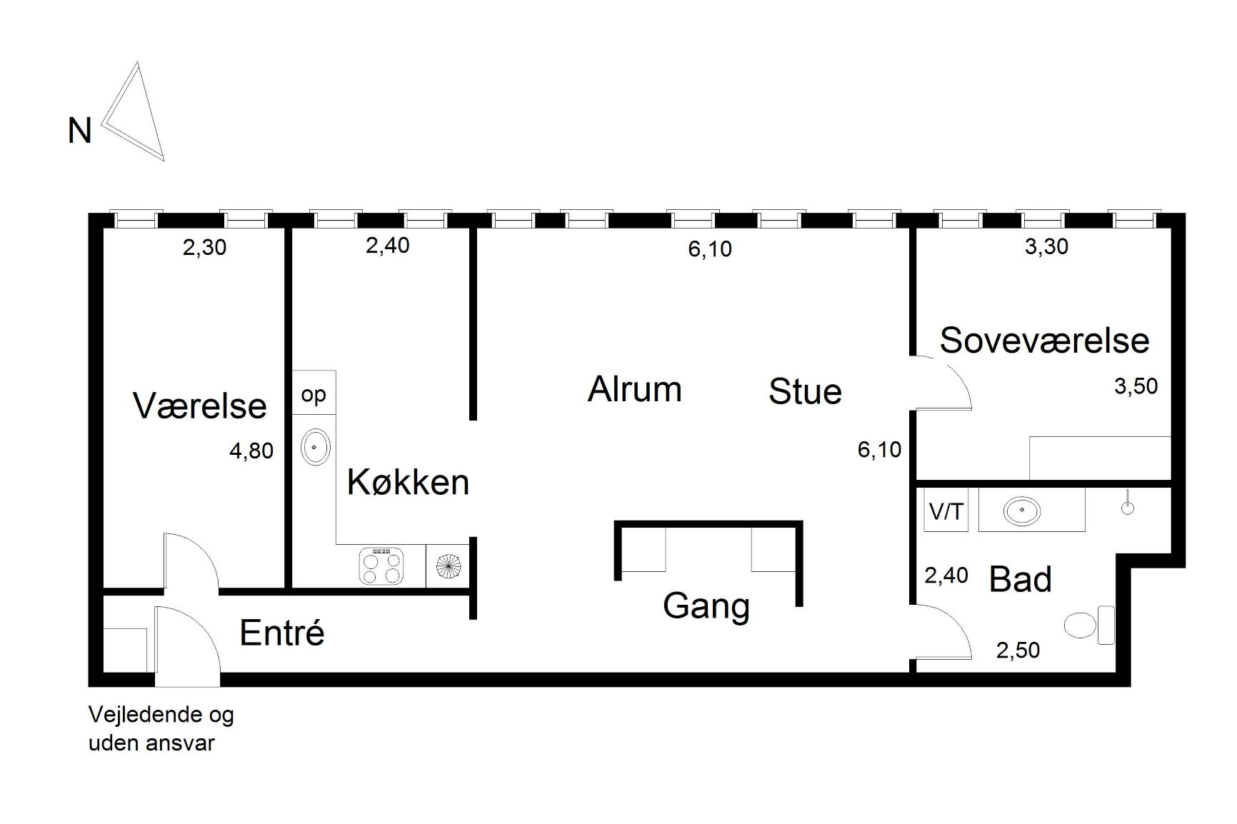 Plantegning for Fynsgade 10, 1. 3, 6700 Esbjerg