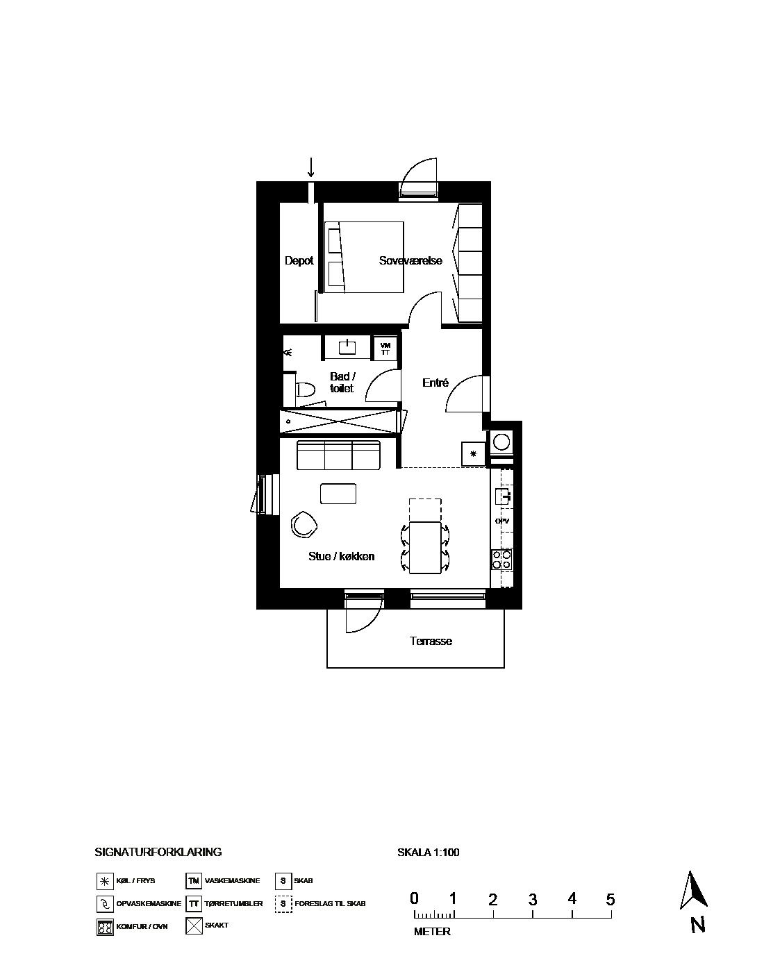 Plantegning for Ringholmvej 14 st. th., 2700 Brønshøj